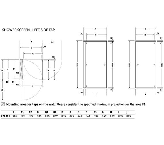 Technical drawing QS-V21175 / 770005000000000
