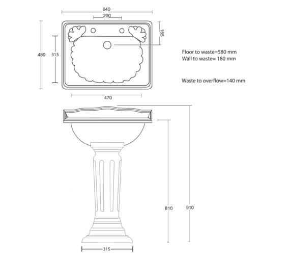 Technical drawing QS-V40519 / OX1SQ11030