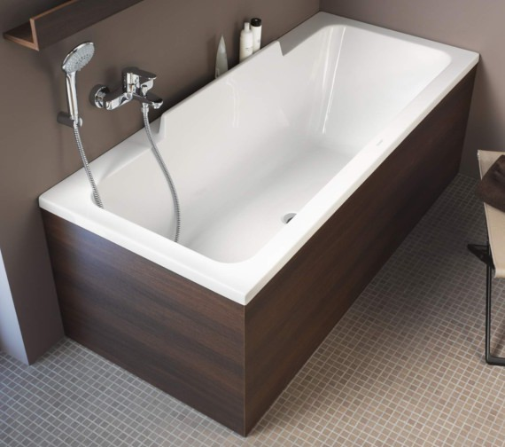 Additional image of Duravit DuraStyle 1700 x 750mm Bath With One Backrest Slope Right
