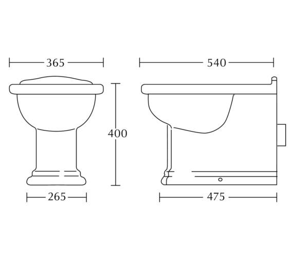 Technical drawing QS-V40510 / BE1BC01030