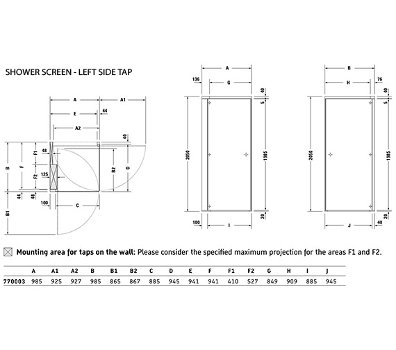 Technical drawing QS-V21173 / 770003000000000