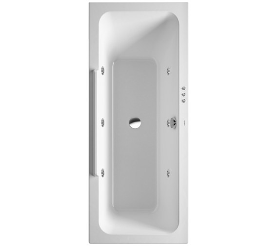 Duravit DuraStyle 1600 x 700mm Bath With Right Slope And Jet-System