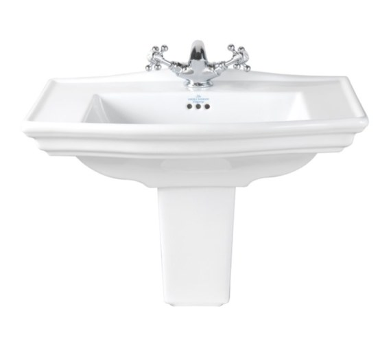 Imperial Westminster 600mm Medium Basin With Semi Pedestal
