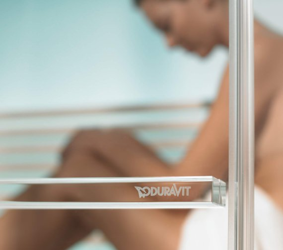 Alternate image of Duravit Inipi Ama Sauna 3350mm Back-To-Wall And Corner With Right Shower