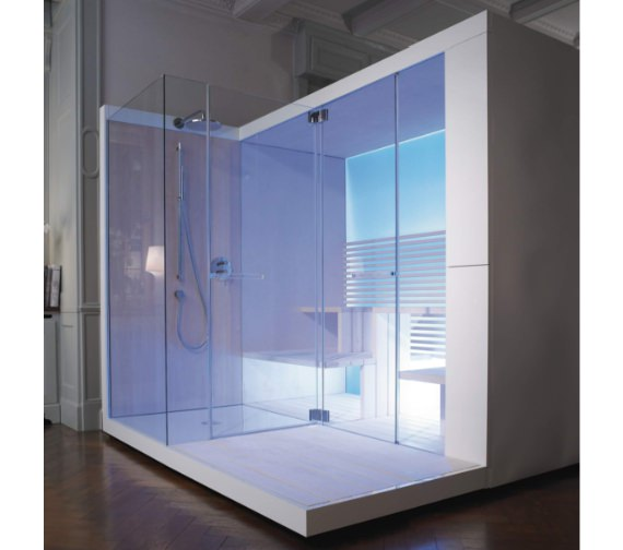 Alternate image of Duravit Inipi Ama Sauna 3350mm Freestanding With Right Shower And Antislip