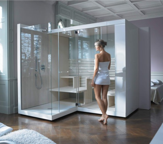 Alternate image of Duravit Inipi Ama Sauna 2350mm Freestanding With Front Shower