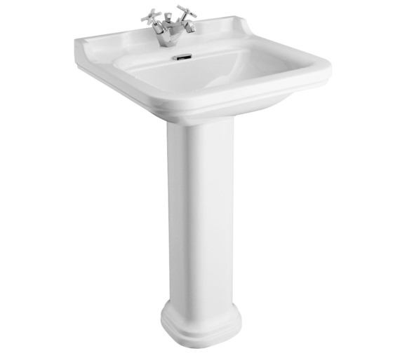 Bauhaus Waldorf 600mm 1 Tap Hole Basin And Pedestal