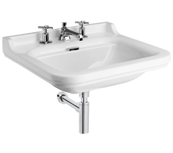 Bauhaus waldorf 600mm 3 tap hole wall hung basin wf0613scw