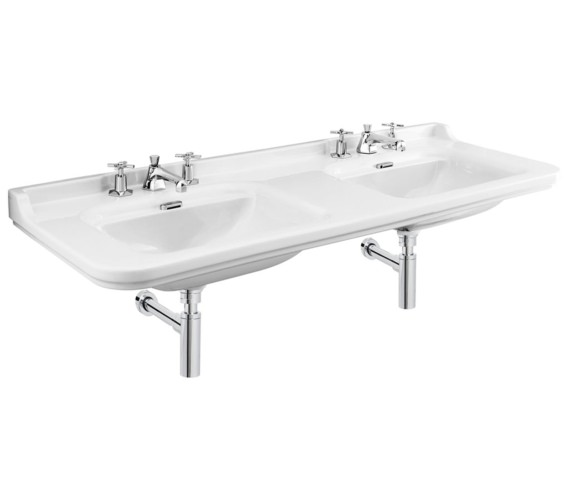 Bauhaus Waldorf 1500mm 3 Tap Hole Wall Hung Double Basin