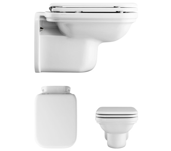 Bauhaus Waldorf Wall Hung WC 550mm