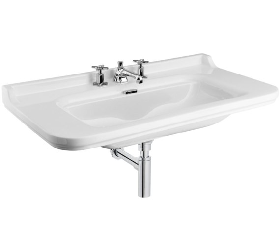 Bauhaus Waldorf 1000mm 3 Tap Hole Wall Hung Basin
