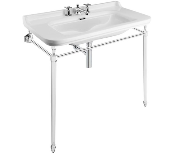 Bauhaus Waldorf 1000mm 3 Tap Hole Basin And Console