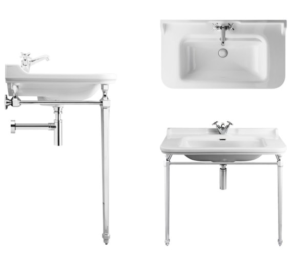 Alternate image of Bauhaus Waldorf 1000mm 3 Tap Hole Basin And Console
