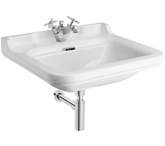Bauhaus Waldorf 600mm 1 Tap Hole Wall Hung Basin