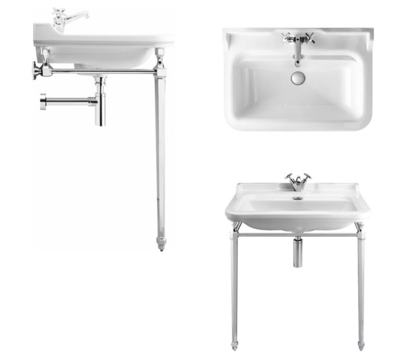 Alternate image of Bauhaus Waldorf 800mm 1 Tap Hole Basin And Console