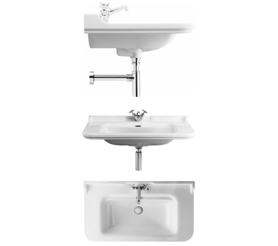 Alternate image of Bauhaus Waldorf 1000mm 3 Tap Hole Wall Hung Basin