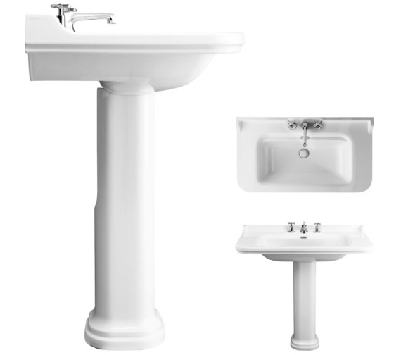 Alternate image of Bauhaus Waldorf 1000mm 1 Tap Hole Basin And Pedestal
