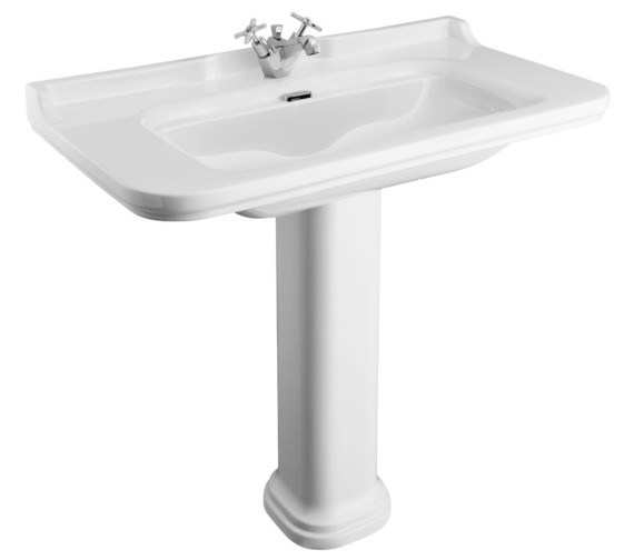 Bauhaus Waldorf 1000mm 1 Tap Hole Basin And Pedestal