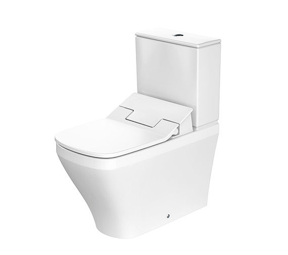 Duravit SensoWash Slim Seat With DuraStyle Close Coupled Toilet With Cistern