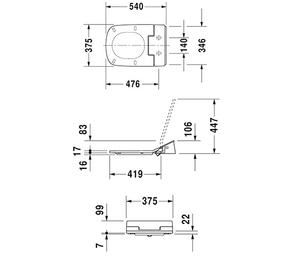 Technical drawing QS-V63469 / 611200002004300