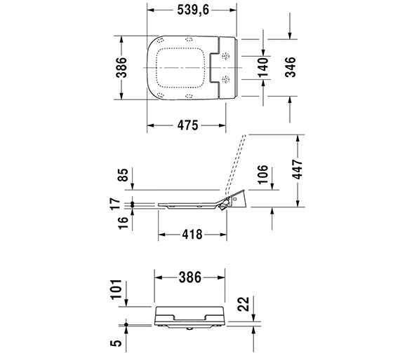 Technical drawing QS-V63473 / 611400002004300