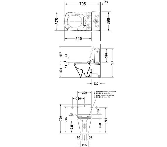 Technical drawing QS-V63470 / 611200002004300