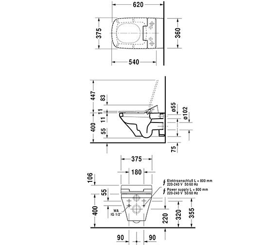 Technical drawing QS-V63468 / 611200002004300
