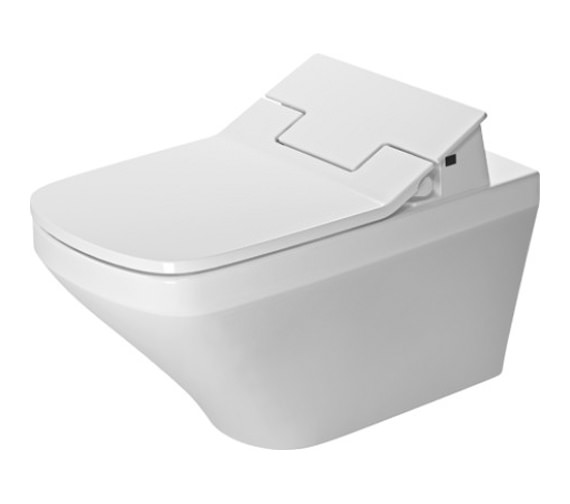 Duravit SensoWash Slim Seat With DuraStyle Rimless Wall Mounted Toilet