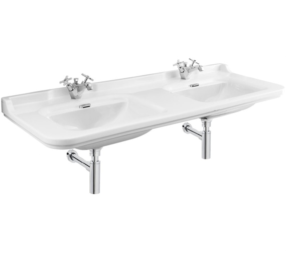 Bauhaus Waldorf 1500mm 1 Tap Hole Wall Hung Double Basin