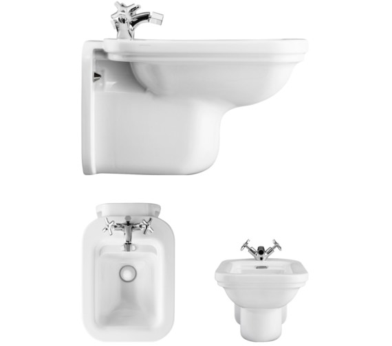 Bauhaus Waldorf Wall Hung Bidet 550mm