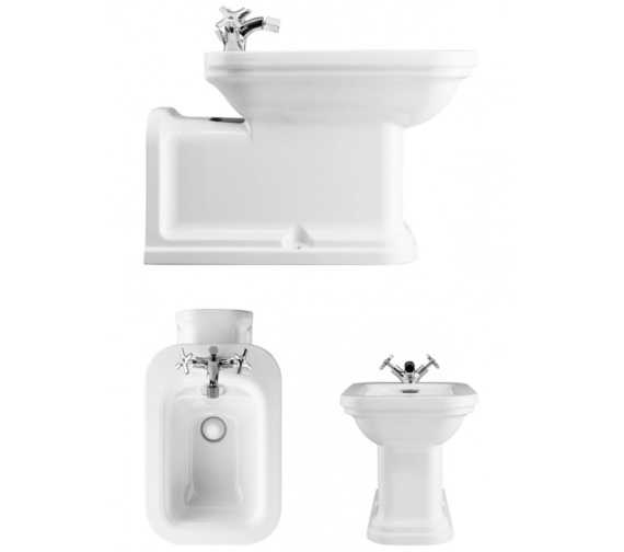 Bauhaus Waldorf Back To Wall Bidet 650mm
