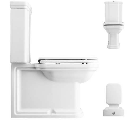 Alternate image of Bauhaus Waldorf Close Coupled WC Pan And Cistern 680mm