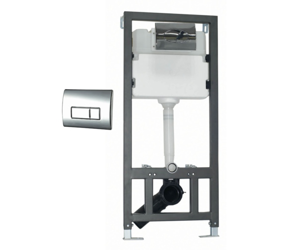 Phoenix WC Wall Mounting Fixing Frame With Cistern And Square Face Plate