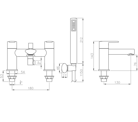 Technical drawing QS-V8576 / AB4144