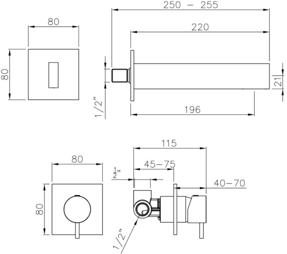 Technical drawing QS-V8577 / AB4168