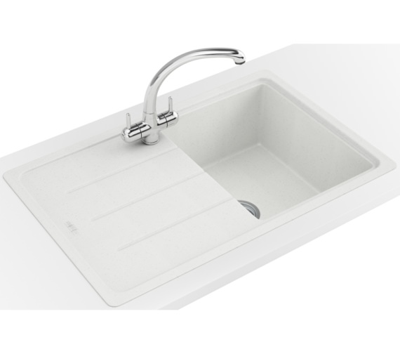 Additional image of Franke Basis BFG 611-780 Fragranite Polar White 1.0 Bowl Kitchen Inset Sink