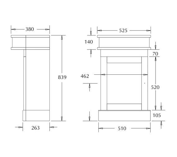 Technical drawing QS-V40515 / XS301L0020