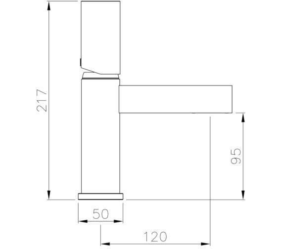 Technical drawing QS-V8579 / AB4170