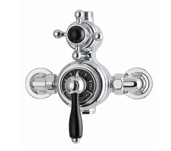 Imperial Radcliffe Exposed Shower Valve With Black Ceramic Handles