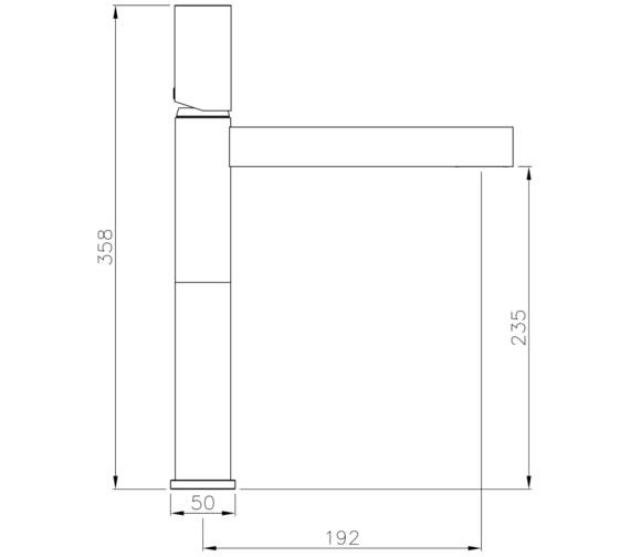 Technical drawing QS-V8581 / AB4172