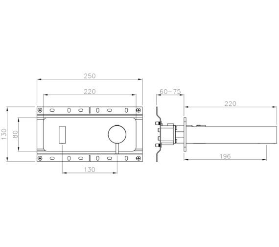 Technical drawing QS-V8582 / AB4173
