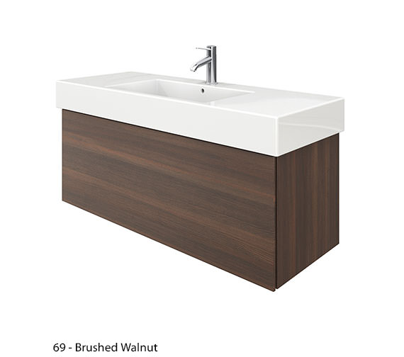 Alternate image of Duravit Delos 1 Compartment Brushed Oak Unit With Vero 1250mm Basin