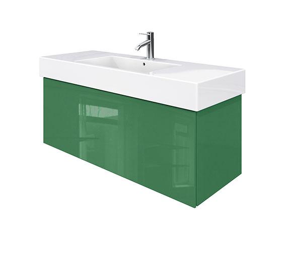 Duravit Delos 1 Compartment Jade High Gloss Unit With Vero 1250mm Basin
