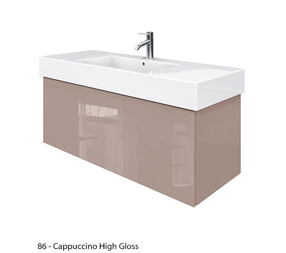 Alternate image of Duravit Delos 1 Compartment Jade High Gloss Unit With Vero 1250mm Basin