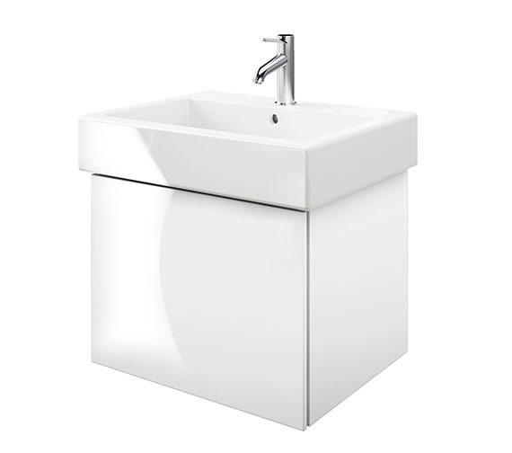 Duravit Delos 1 Compartment White High Gloss Unit With Vero 700mm Basin