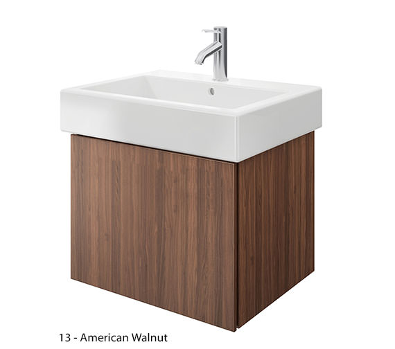 Additional image of Duravit Delos 1 Compartment Brushed Oak Unit With Vero 700mm Basin