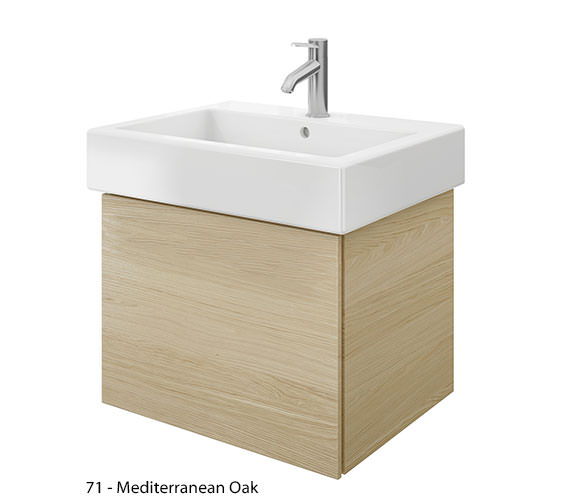 Alternate image of Duravit Delos 1 Compartment Brushed Oak Unit With Vero 700mm Basin