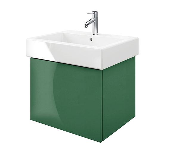 Duravit Delos 1 Compartment Jade High Gloss Unit With Vero 700mm Basin