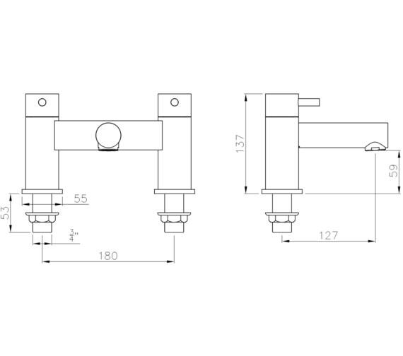 Technical drawing QS-V8569 / AB4124