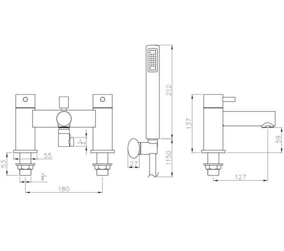 Technical drawing QS-V8570 / AB4125